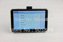 HD 800 480 5inch GPS Navigator BT AV IN 4GB DDR 128M load new 3D map