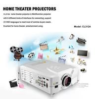Full HDMI Beamer 1080P 2200 Lumen 2xHDMI 2xUSB Video Projector/Projektor 3D & HD for home use
