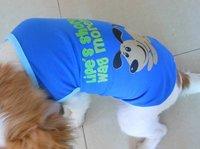 Deep Blue Pet Dog Tank Top Shirt Vest Summer Apparel  for Yorkie Maltese