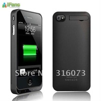 Free shipping! hot sale  iFans EL-IP4-01 rechargeable battery pack case for iphone4