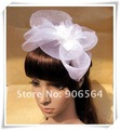 Free shipping whole sale and retail the fashion new handmade white color feather fascinator hair accessoriesM44