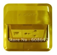 floor outlet box with silver and gold color