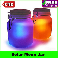 Free Shipping Moon Jar - Solar Power LED Mood Light(China (Mainland))