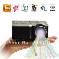Mini AV LED Digital Projector A/V USB & SD perfect for DVDs 320*240 110-240V 50/60Hz