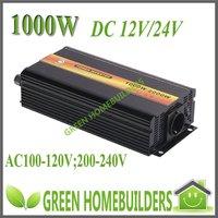 1 year warranty ,CE & RoHs approved ,1000W pure sine wave power inverter DC 12V/24V to AC 240v