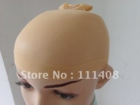Free shipping!!! Retail _ 2pcs/Pack Beige Hairnets Dream deluxe wig cap high elasticity Net Mesh wig wearing High Quality