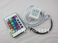 [Seven Neon]Free DHL shipping 24keys IR remote controller for 3528/5050 led smd RGB strip,led strip controller