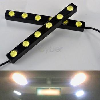New 2 X 6 LED Cold White Waterproof Car Eagle-eye Driving Daytime Running Light Lamp 12V Free Shipping 30