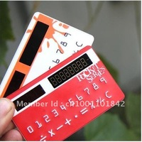 HOT SELL!Free shipping;Light control thin card calculator;Creative Solar calculator.Wholesale or Retail;