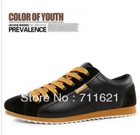 2013 brand new MEN&#39;S canvas shoes casual leather sneakers boy sport shoe  size:39-44) WUSH-808