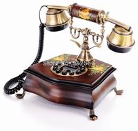 Wood Corded Telephone Vintage Antique Telephone