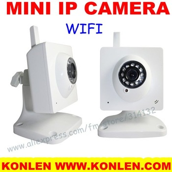 Free shipping home mini IP camera wifi for indoor use, 12 LEDS IR nightvision, IE/iphone/ipad remote monitor