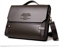 Russian Syle+ Free Shipping + man's business bag/leisure bag/leather bag &Brown