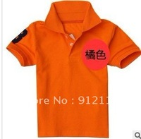 boy s&girls POLO T shirt, Children's T-shirt, short sleeve T-shirt, Size5 7 9 11 13,for 2-7years 5pcs/lot