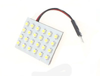 24 SMD 1210 LED Festoon Dome/Door/Box Light Panel Interior Bulb+T10/ Festoon /BA9S Adapter 12V