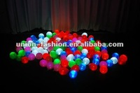 5PCS/BAG,100pcs/lot Free shipping Led light up balloons, luminous Latex LED balloons,LED for Wedding and Party Decoration