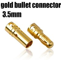 200pairs rc lipo battery plug connectors 3.5mm 3.5 mm Gold Bullet Connector Plug t deans Free shipping