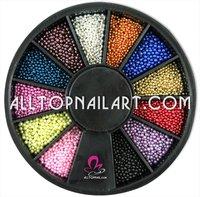 150 Wheels Nail Art Pearl Professional 12 colours Nail Art Mini Bead for Nails -DHL FREE SHIPPING