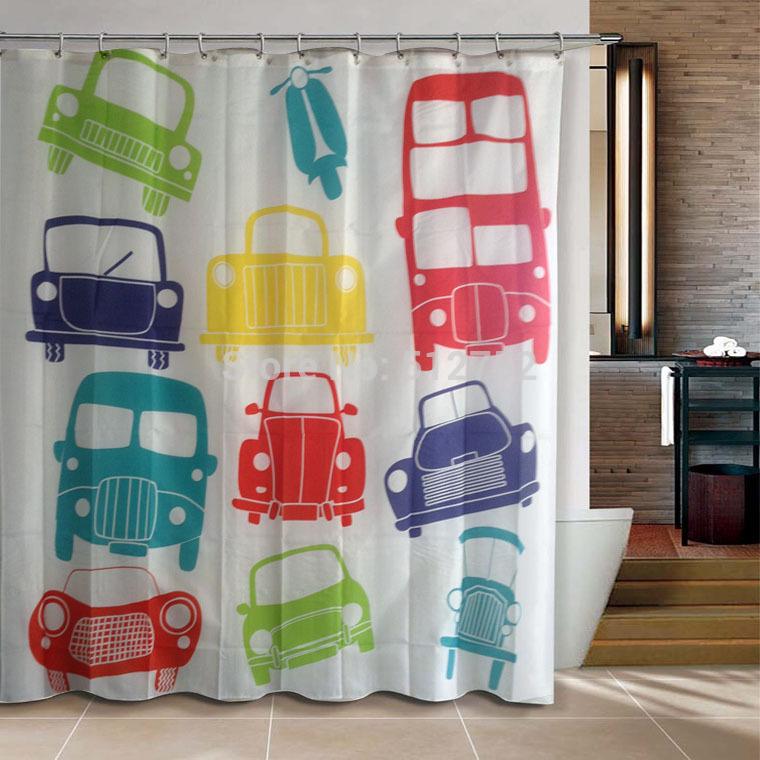 Cortinas De Baño Londres:puente de londres, autobús de color naranja de poliéster cortina de