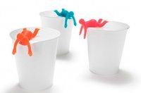 Free shipping 20pcs/lot Cupmen 3 Cupwomen Instant Noodle Figure Set of Three Cup ramen readiness indicators