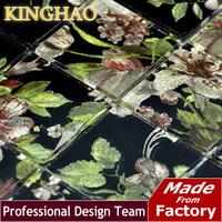 Bathroom Tiles Pastilhas De Vidro Para Banheio [kinghao]crystal Glass Mosaic Tile Surface Brick Tiled Bathroom Models Kwp406