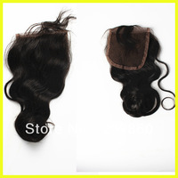 "Brazilian human hair high quality lace top closure(3""x4.5"") fast shipping"
