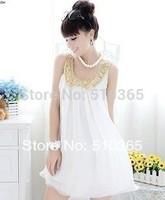 Women summer dress  2014 new XXXL fashion girl chiffon white party casual women dresses PLUS big Size 2795