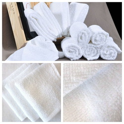 Free shipping--30x30cm 100%cotton,Grade A , Hand towel, Wash cloth, Hotel towel, White color, Soft & Terry,(China (Mainland))
