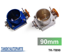 TANSKY-UNIVERSAL 90mm THROTTLE BODY Silver,blue TK-TB90