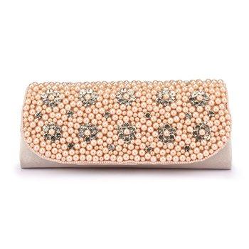 New Fashion Pearl Handbag. Hand-beaded Flower Diamond Bridal Clutch Purse. Women's Chain Can Shoulder Messenger Evening Bag