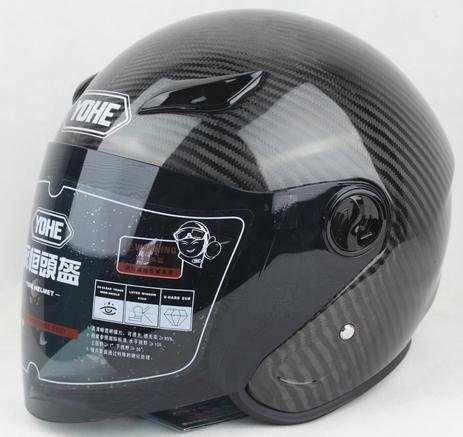 Free Shipping 100% Carbon Fiber YOHE half face helmet DOT helmet,ECE,SNELL,JIS,AS/NZS Approved YH-823(China (Mainland))
