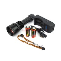 1 Set TR-DF003 TrustFire Diving LED Flashlight  CREE XM-L T6 LED 35W 3000 LM Torch +2*Ultratfire 26650+TR-006Charger+Mail Free