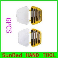 SunRed BESTIR taiwan brand 6PCS Screw Extractor Tools Kit  alloy tool steel auto reparing tool  NO.93412 freeshipping