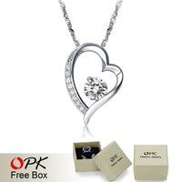 OPK JEWELRY White Gold Pendant  Women Jewelry Hot Fashion heart Crystal  pendant  New Arrievel 060