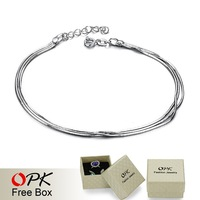 OPK JEWELRY Free Shipping White gold plated Anklet  wholesale price  fashion anklet bracelet  foot anklet jewelry 181