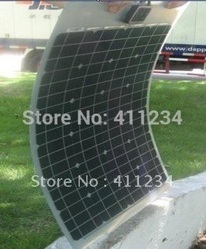 80W semi flexible solar panel ,mono crystalline portable solar module