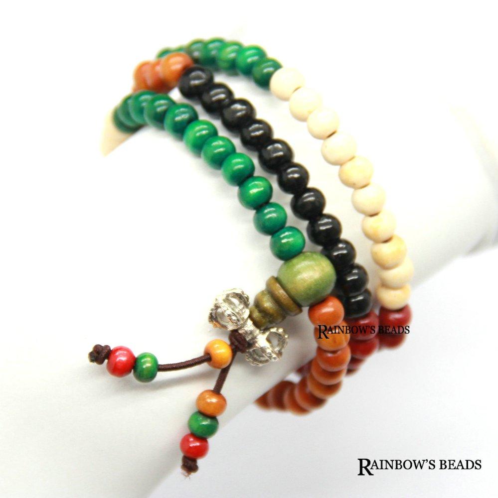 Bw-1003 grátis frete 6mmx108 cinco cores contas de oração budista contas de oração mala atacado jóias tibetano(China (Mainland))