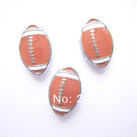 free shipping 8mm sport football letter charm, 50pcs