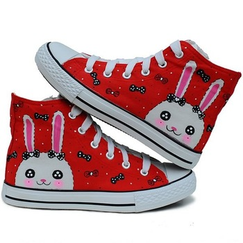 children footear girls'  canvas shoes  colour painting ER-Z013