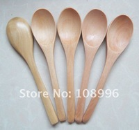 2012 Newest small wooden spoon, Sharp spoon,baby spoon, wholesale, Free shipping 12.5*2.7CM