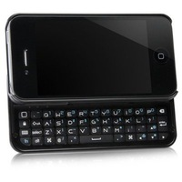 Free shipping Bluetooth Wireless Rechargeable Sliding Keyboard Case for iPhone 4 4G 4S Black