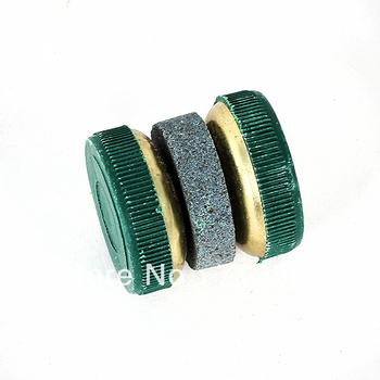 Knife Sharpener Stone Abrader Two Grinding Wheels~free shipping#8574