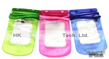 High Quality 5PCS/lot Water Proof Diving Bag For iPhone 4S Mobile Phones Outdoor Waterproof Seal Pouch Case With Strap,#SKU0535