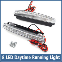 2x Hot 8 LED Car Lamps SMD 5050 Super Bright Headlights auto Fog Bulb Lights HID Xenon Packing Daytime Running Light DRL