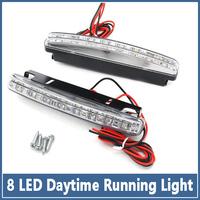 2x Hot 8 LED Car Light SMD 5050 Super Bright Headlights auto Fog Bulb Lights HID Xenon Packing Daytime Running lamp led DRL