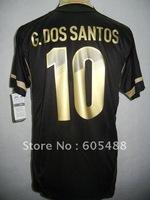 Free shipping ! 11-13 Mexico away #10 DOS SANTOS soccer shirt,Mexico black DOS SANTOS soccer jerseys