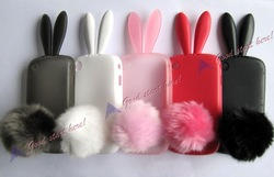 Wholesale* Rabbit Silicone Protector Case Cover For Blackberry Curve 8520 9300 Free Shipping DC920 dropshipping free shipping(Hong Kong)