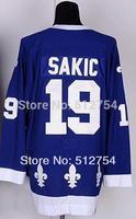 #19 Joe Sakic Jersey,Ice Hockey Jersey,Best quality,Embroidery logos,Authentic Jersey,Size M--XXXL,Accept Mix Order
