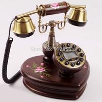 Free Shipping Telefon Old Phones Wood Desk  Antique Telephone