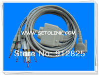 SCHILLER AT-1 AT-2 ECG CABLE 10 LEADS BANANA 4.0 END AHA STANDARD TPU MATERIAL